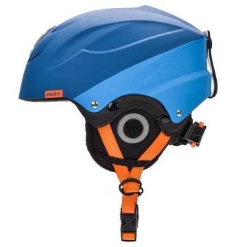 Kask narciarski METEOR Lumi Blue Orange